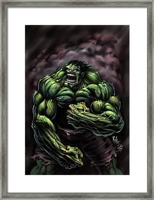 Power Hulk Framed Print by David Bollt