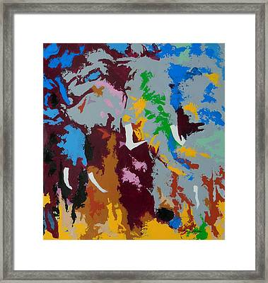 Power In Color Framed Print