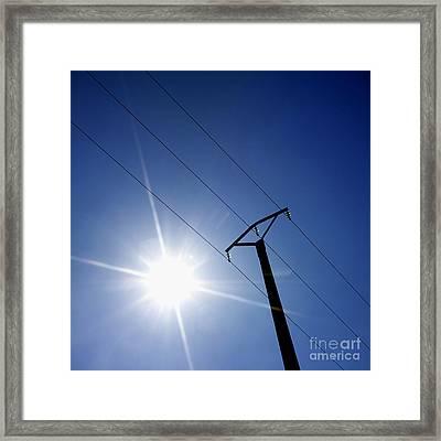 Power Line Framed Print by Bernard Jaubert
