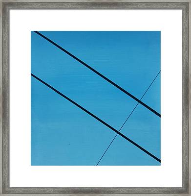 Power Lines 07 Framed Print by Ronda Stephens