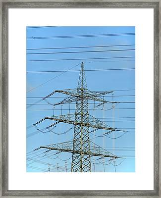 Power Lines Framed Print by Detlev Van Ravenswaay