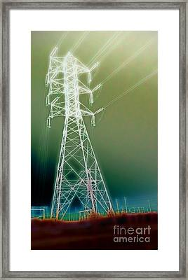 Power Lines Framed Print by Gregory Dyer