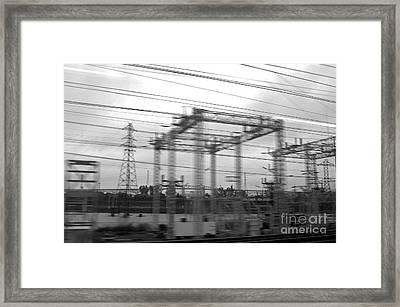 Power Lines Framed Print by Tony Cordoza