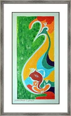 Power Of Aum Framed Print