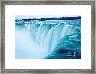 Power Of Niagara Falls Framed Print by Peta Thames