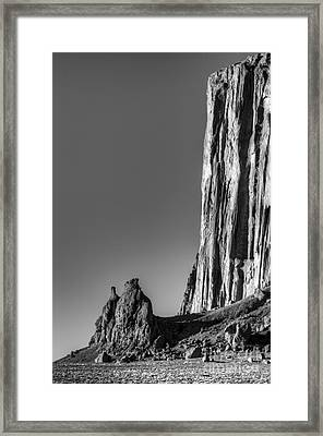 Power Of Stone Framed Print by Bob Christopher