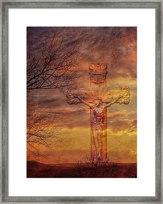 Power Of The Cross Framed Print by Randy Steele