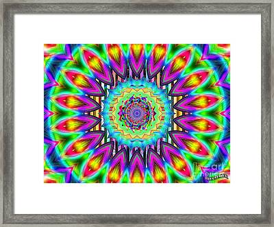 Power Of The Flower Framed Print by Bobby Hammerstone