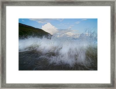 Power Of The Sea Keem Beach Ireland Framed Print