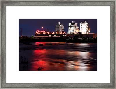 Power On The River - Tulsa Oklahoma Framed Print by Gregory Ballos