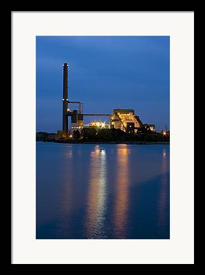 Water Powered Power Plants Framed Prints