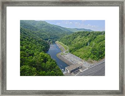 Power Plant And River Framed Print