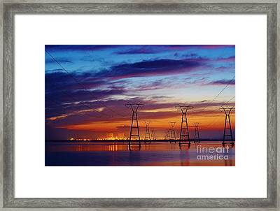 Power Plant On The Rise Framed Print by Lynda Dawson-Youngclaus