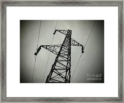 Power Pole Framed Print by Bernard Jaubert