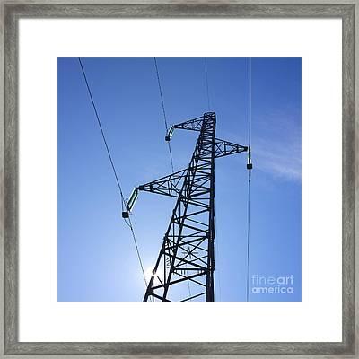 Power Pylon Framed Print by Bernard Jaubert