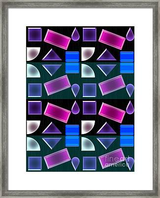 Power Shapes Framed Print