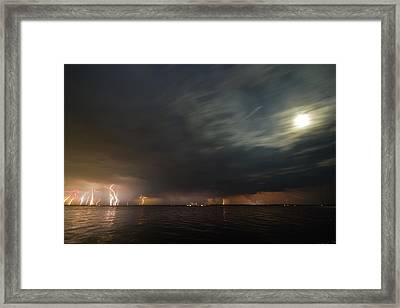 Power Shower Framed Print