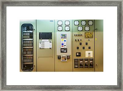 Power Station Control Panel Framed Print by Gustoimages