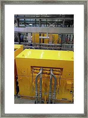 Power Station Heat Exchanger Framed Print by Tony Craddock