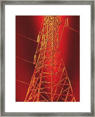 Power Station - Hot Optimized For Metallic Paper Framed Print