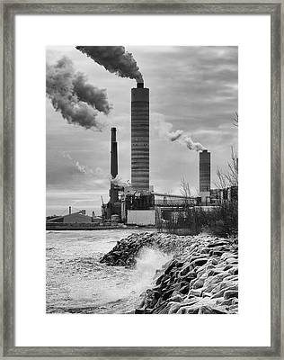 Framed Print featuring the photograph Power Station by Ricky L Jones