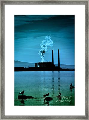 Power Station Silhouette Framed Print by Craig B