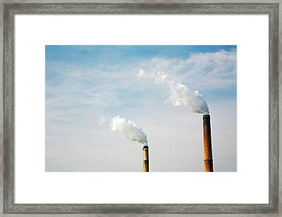 Power Station Smoke Stacks Framed Print