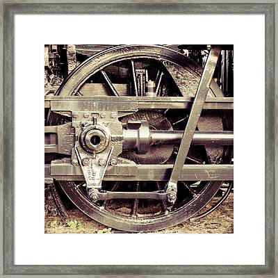 Power Stroke Framed Print
