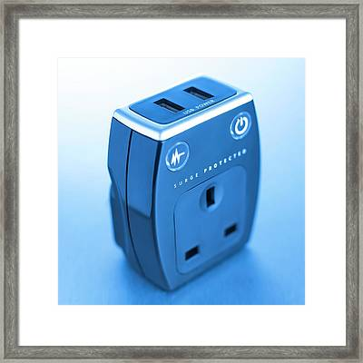 Power Surge Protector Framed Print by Science Photo Library