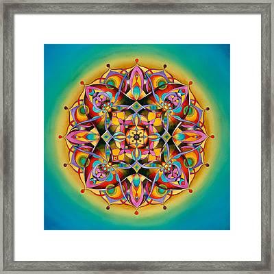 Power - Throat Chakra Mandala Framed Print