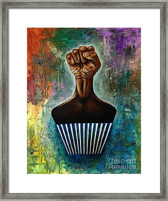 Power To The Afro Pick Framed Print by Ka-Son Reeves