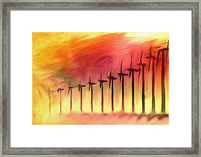 Power To The People Framed Print by Dennis Buckman