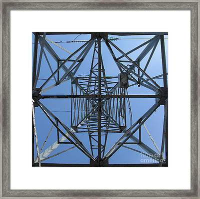 Power Tower. Square Format. Framed Print by Ausra Huntington nee Paulauskaite