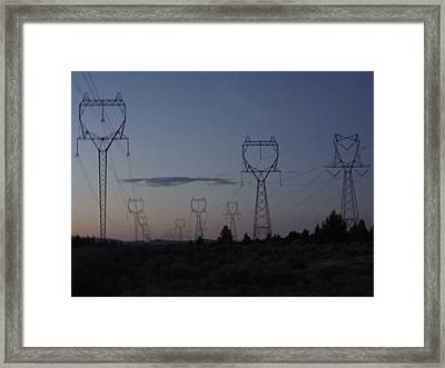 Framed Print featuring the photograph Power Towers by Cheryl Perin