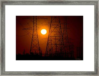 Framed Print featuring the photograph Power by Travis Burgess