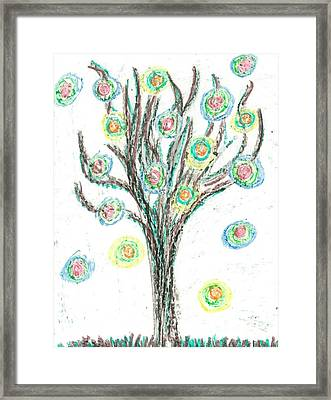 Framed Print featuring the drawing Power Tree by Jill Lenzmeier