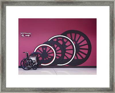 Power Weelchair Framed Print by Francisco Garabitos