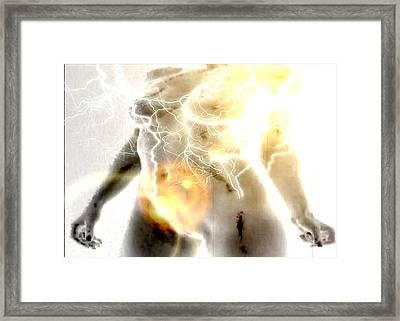 Power Woman Framed Print