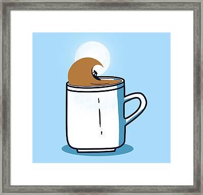 Powered By Coffee Framed Print