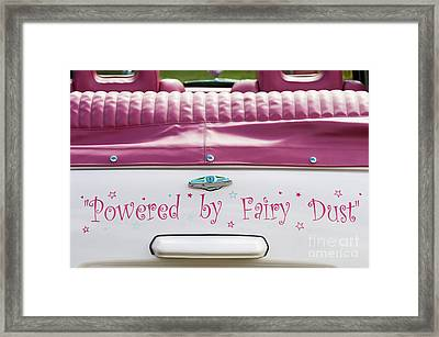 Powered By Fairy Dust Framed Print by Tim Gainey