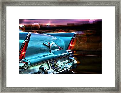 Blue Framed Print featuring the photograph Powerflite by Aaron Berg
