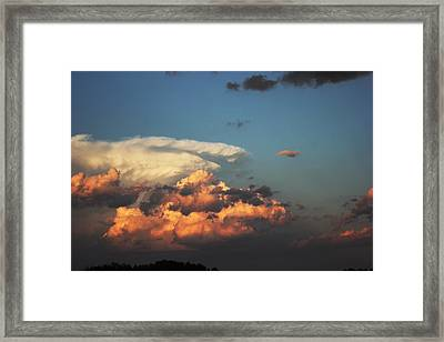 Framed Print featuring the photograph Powerful Cloud by Ryan Crouse