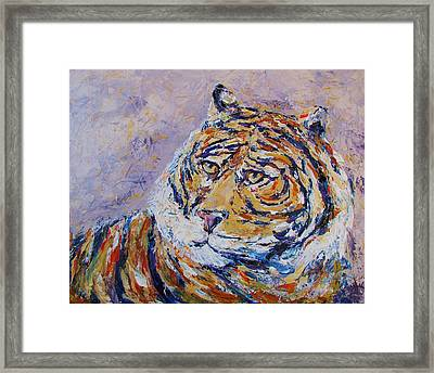 Powerful Focus Framed Print by Kat Griffin