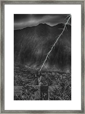 Powerful Message Framed Print by Douglas Barnard