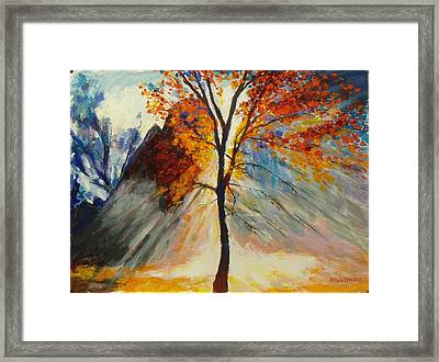 Powerful Morning Rays Framed Print