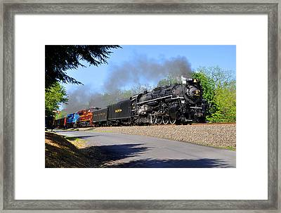 Powerful Nickel Plate Berkshire Framed Print