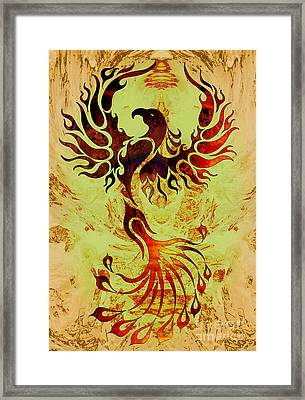 Powerful Phoenix Framed Print by Robert Ball