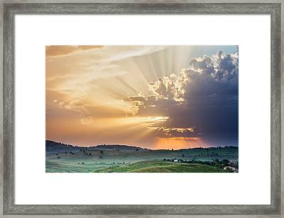 Powerful Sunbeams Framed Print by Evgeni Dinev