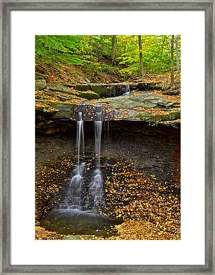 Powerful Trickle Framed Print