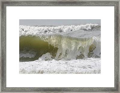 Powerful Wave Framed Print by Michele Kaiser